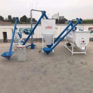 牛饲料加工机械成套设备 饲料机组厂家直销