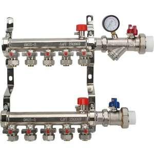 不锈钢分水器 工程地暖分水器